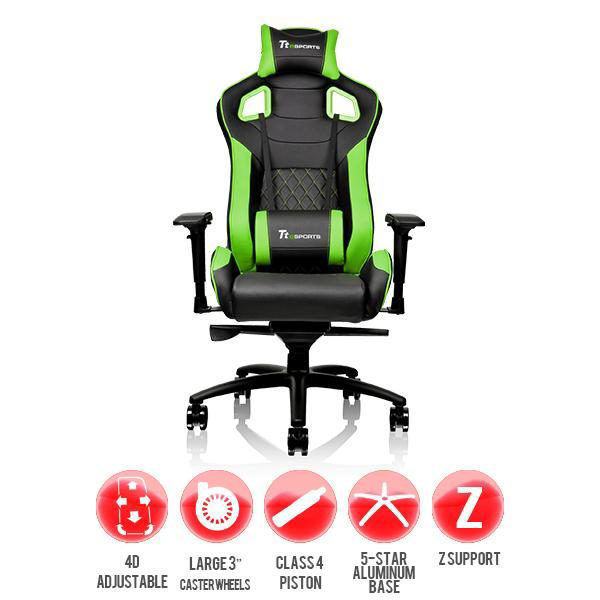 Picture of Thermaltake GT FIT Series professional gaming chair Green