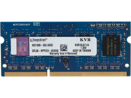 Picture of Kingston 4GB  DDR3 Laptop Ram  KVR16LS11/4
