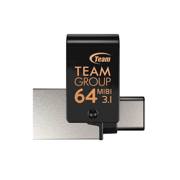 Picture of OTG USB / MICRO USB FLASH MEMORY  64GB TEAM FOR PC AND ANDROID