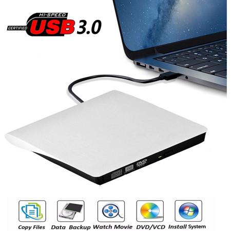 Picture of DVDRW External USB Transcend Slim WHITE