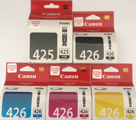 Picture of Original Canon 425 426 ink cartridges