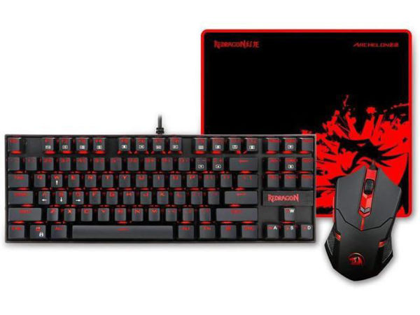 Picture of Redragon K552-BA Gaming MECHANICAL  Keyboard,Mouse & pad