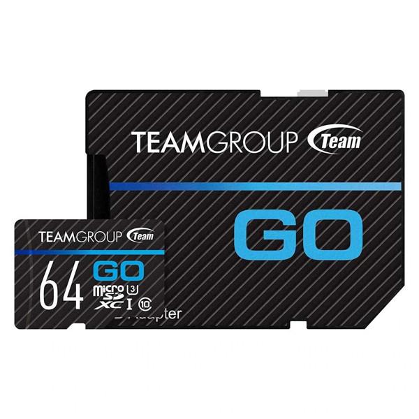 Picture of TEAM GROUP 64GB MicroSD GO Card UHS-I U3 MicroSD CARD