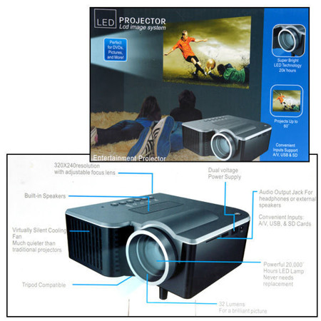 Picture of Portable Mini LED Projector