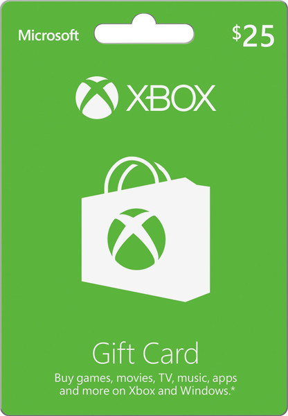 Picture of XBOBX 25$ GIFT CARD