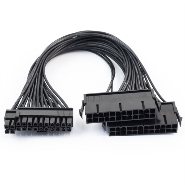 Picture of Dual 24-Pin ATX Power Supply Motherboard Adapter Cable