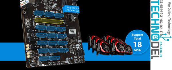 Picture of MSI B360-F PRO MINING BOARD ( 18 GPU )